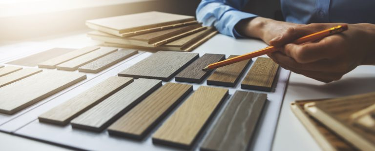 Wooden,Texture,Furniture,Material,Samples,For,Interior,Design.,Designer,Working